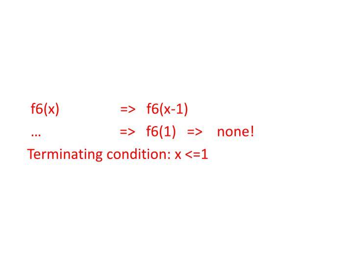 f6(x)                 =>   f6(x-1)