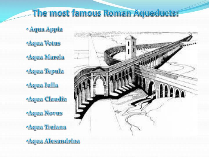 The most famous roman aqueducts