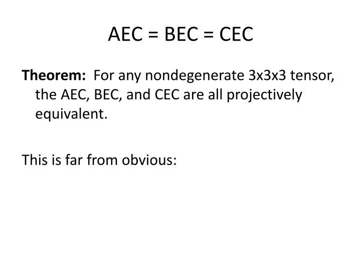 AEC = BEC = CEC