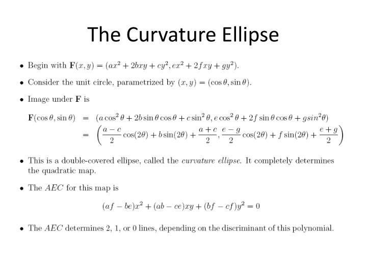 The Curvature Ellipse
