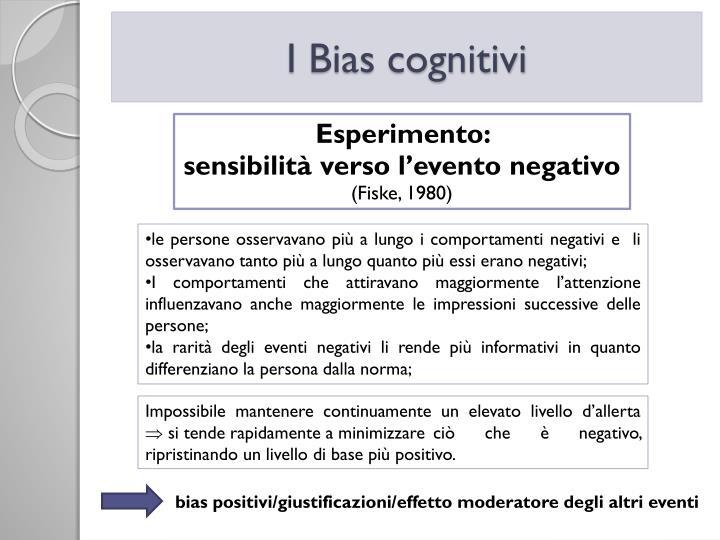 I Bias cognitivi