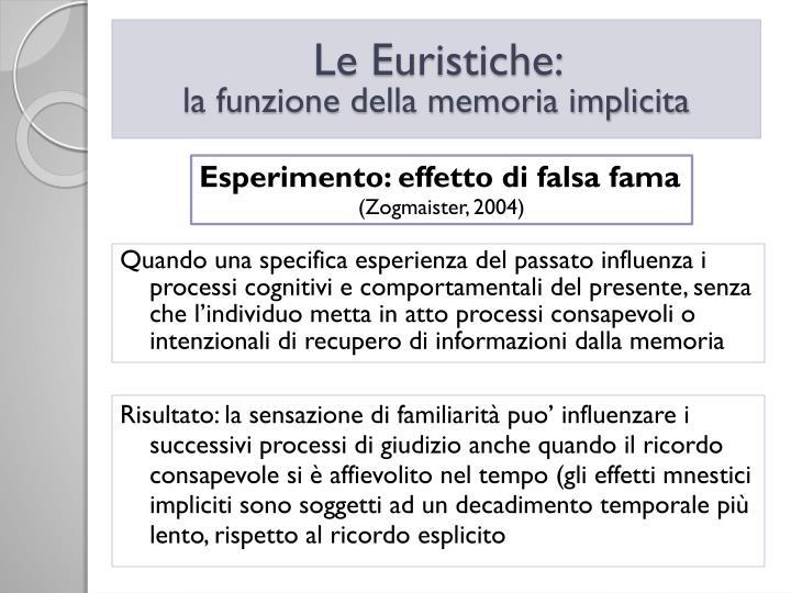 Le Euristiche:
