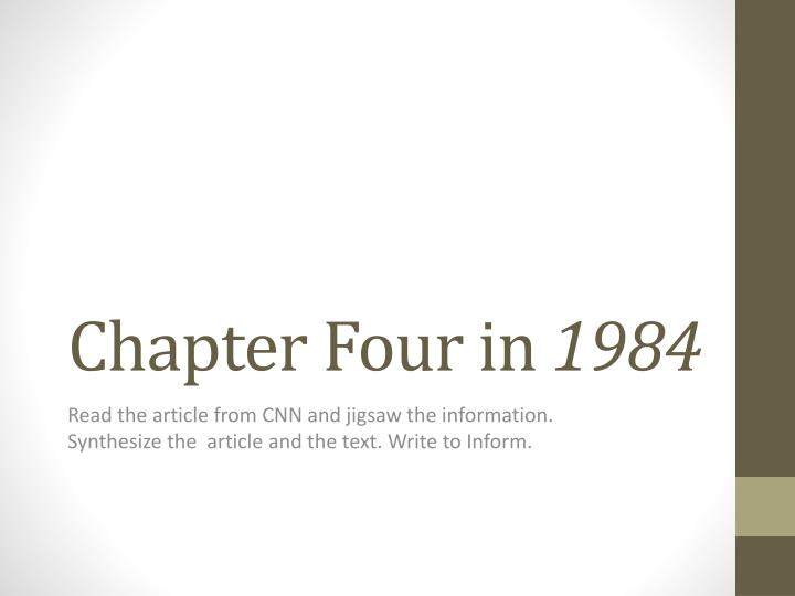 Chapter four in 1984