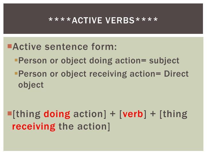 ****Active verbs****