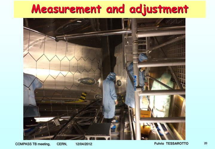 Measurement and adjustment
