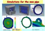 simulations for the new pipe