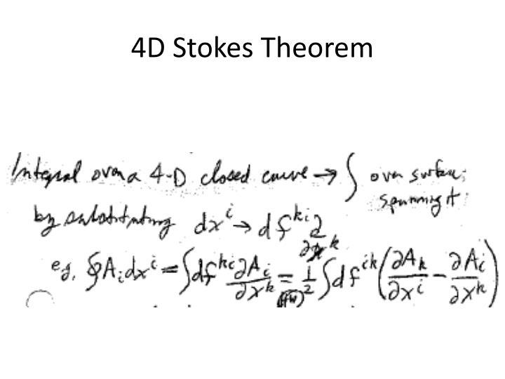 4D Stokes Theorem