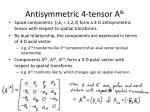 antisymmetric 4 tensor a ik