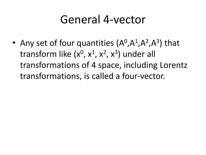 General 4-vector