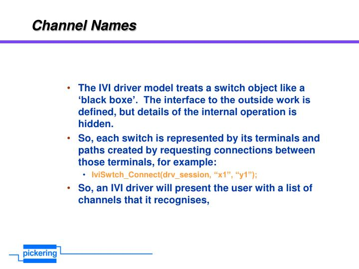 Channel Names