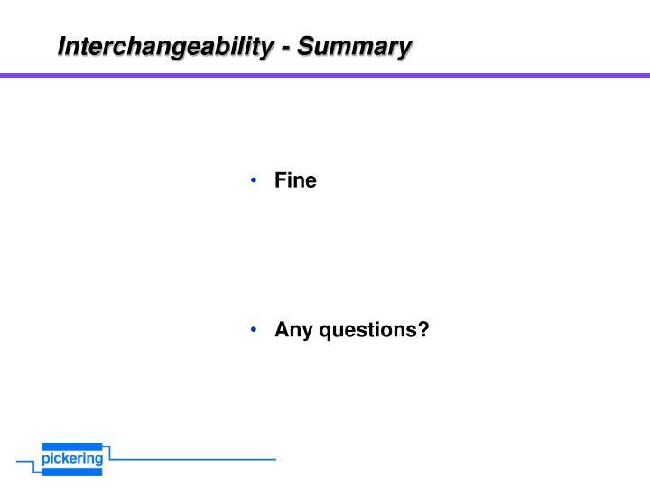 Interchangeability