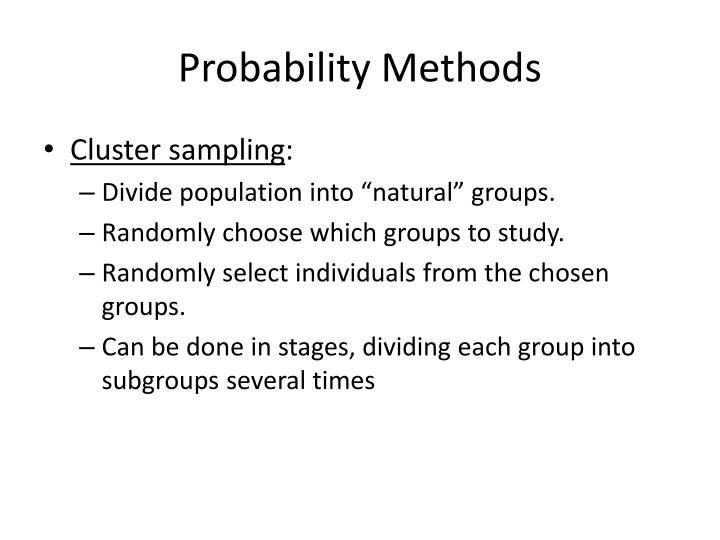 Probability Methods