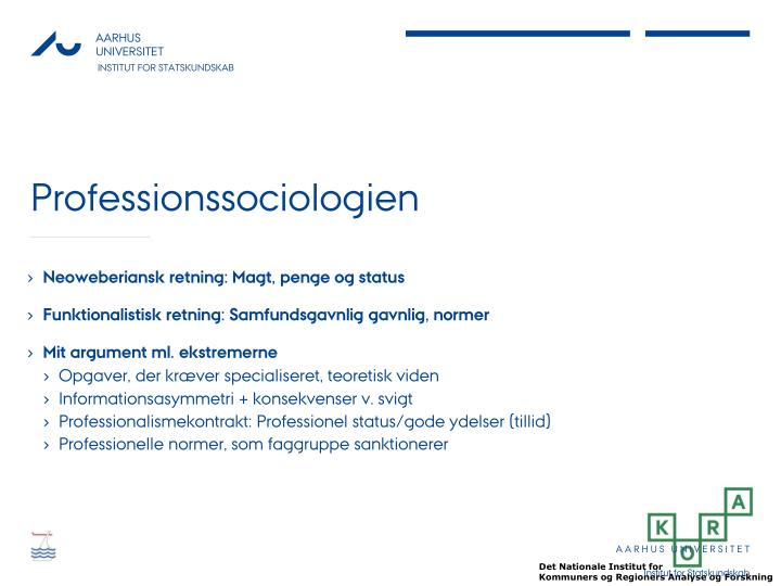 Professionssociologien