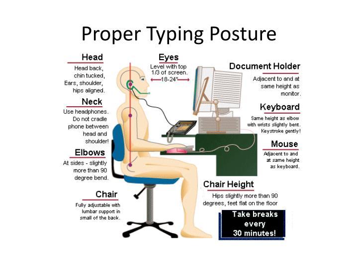 Proper Typing Posture