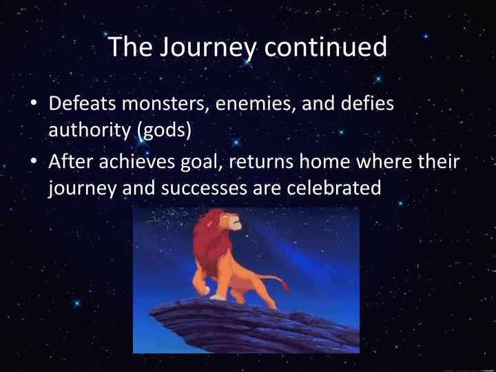 The Journey continued