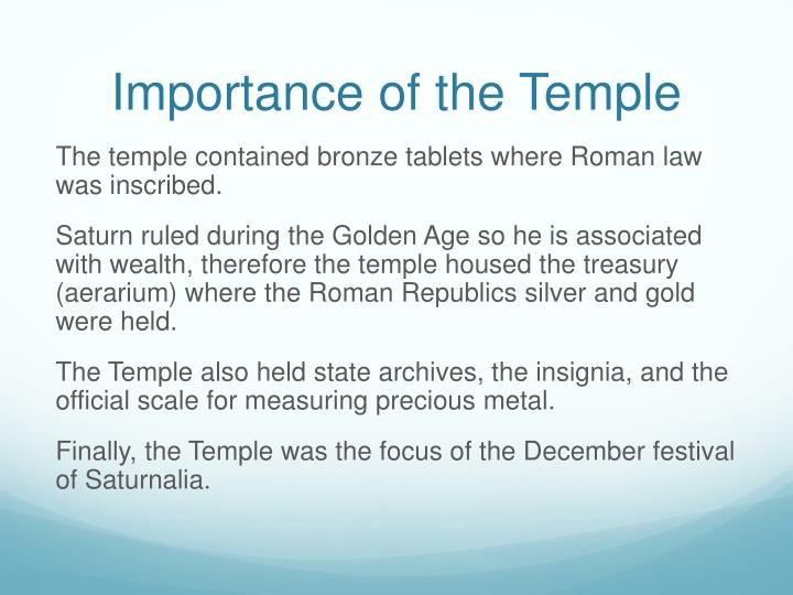 Importance of the Temple