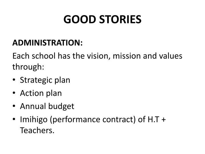 GOOD STORIES