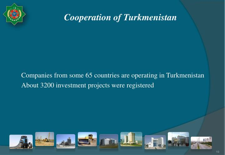 Cooperation of Turkmenistan