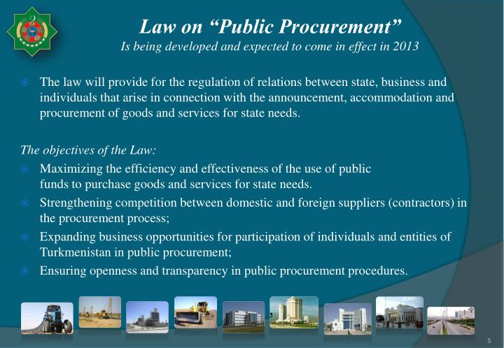 "Law on ""Public Procurement"""
