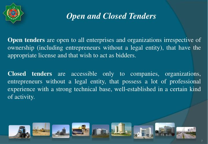 Open and Closed Tenders