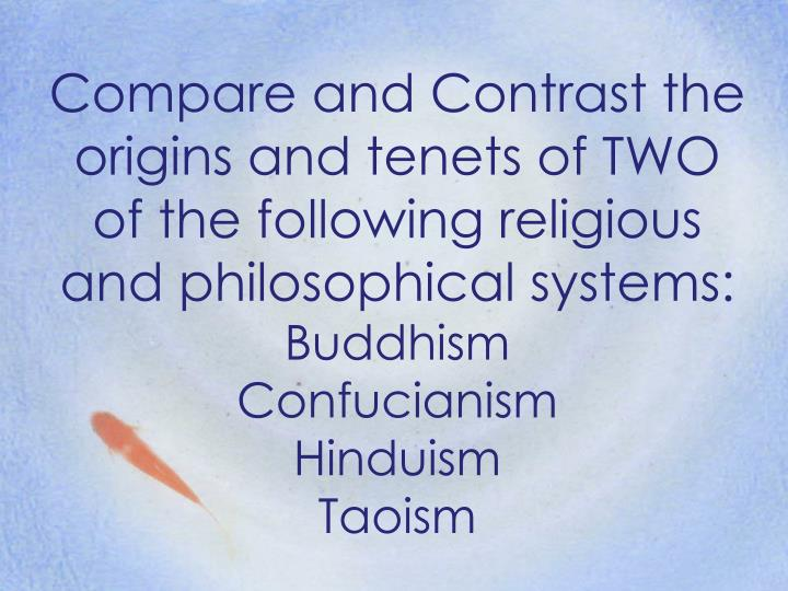 comparison of buddhism and taoism essay