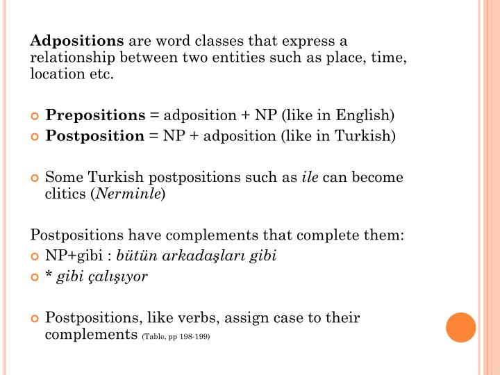 Adpositions