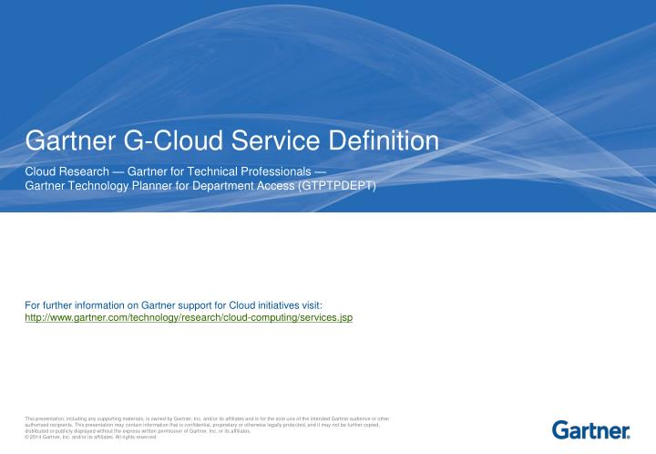 Gartner g cloud service definition