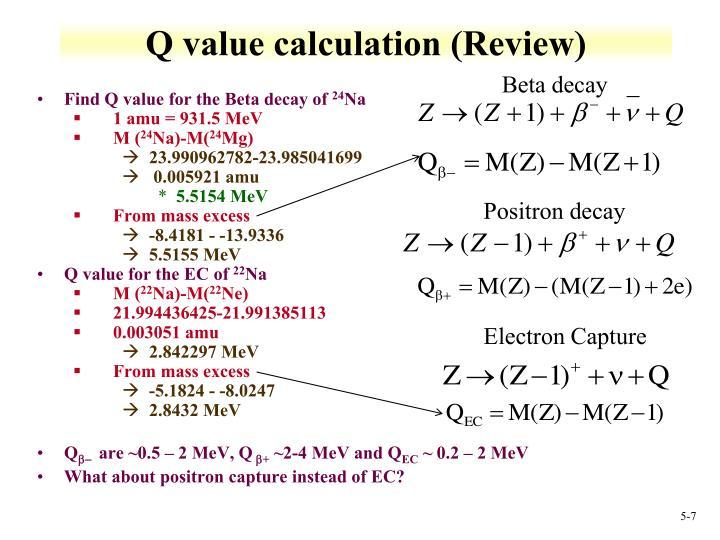 Q value