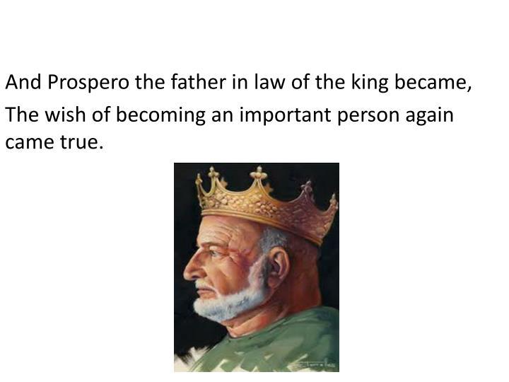 And Prospero