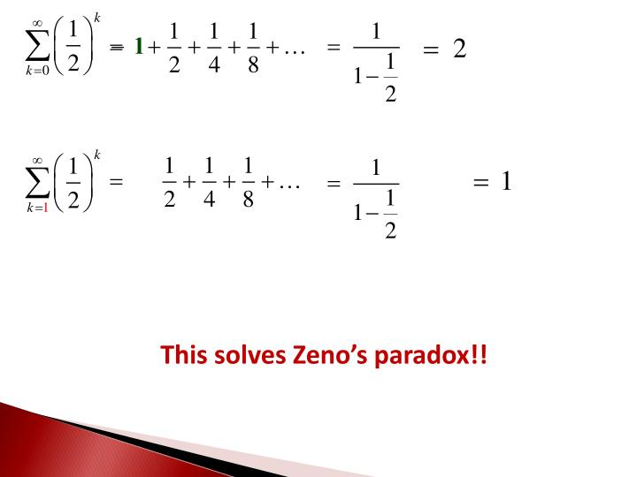 This solves Zeno's paradox!!