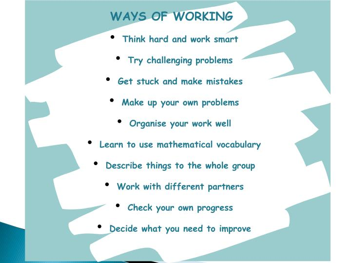 WAYS OF WORKING