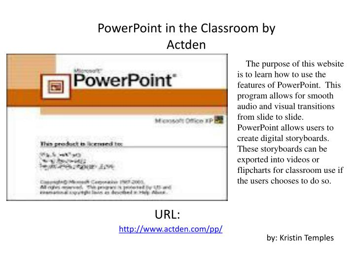 Welcome to PowerPoint  actDEN