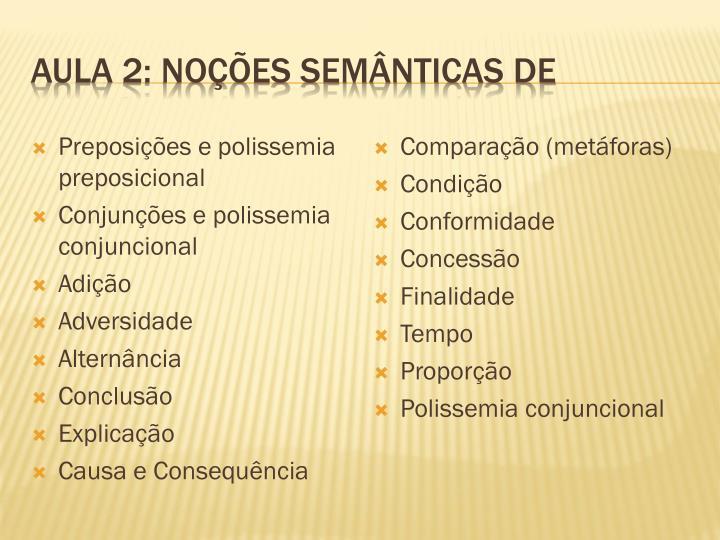 Aula 2: noções semânticas de