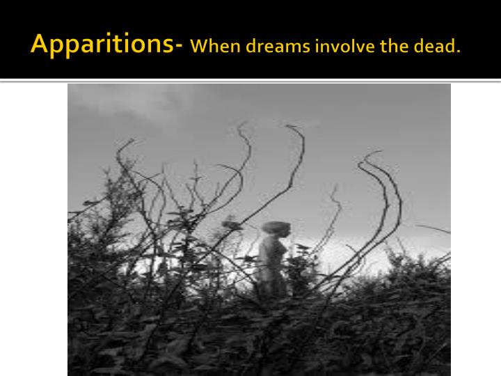 Apparitions when dreams involve the dead