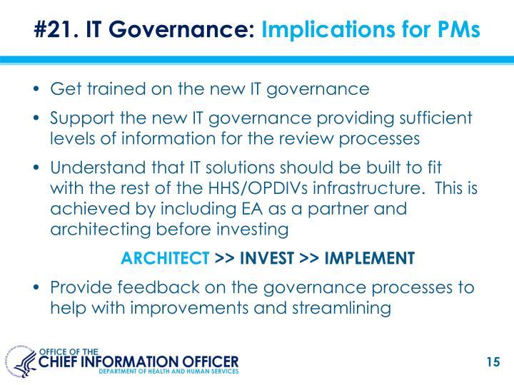 #21. IT Governance: