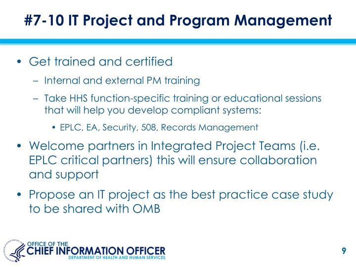 #7-10 IT Project and Program Management