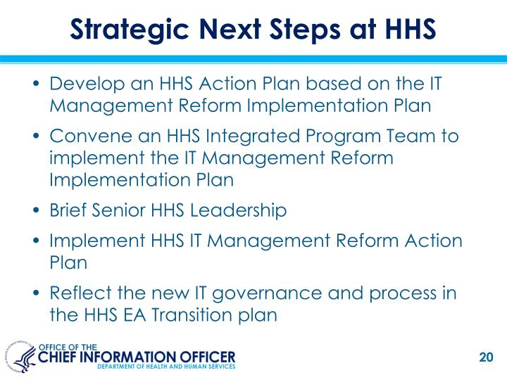 Strategic Next Steps at HHS