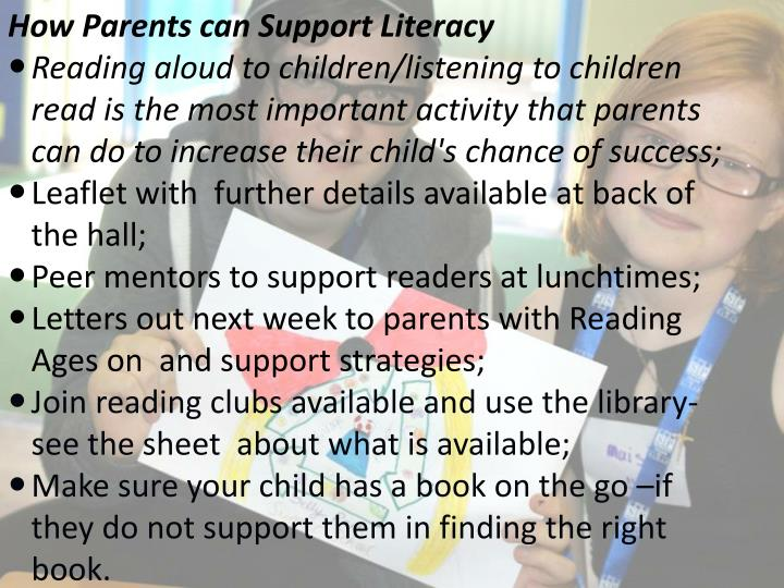 How Parents can Support Literacy