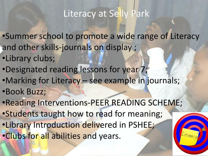 Literacy at Selly Park