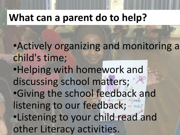 What can a parent do to help?