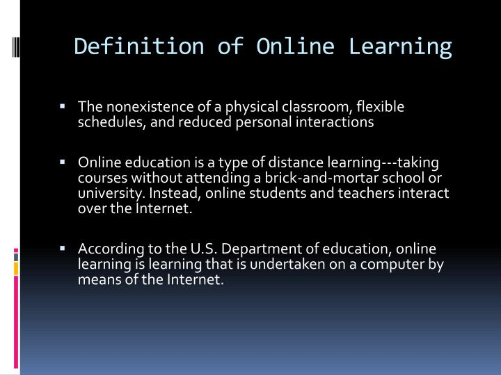 PPT - The Advantages and Disadvantages of Online Learning ...