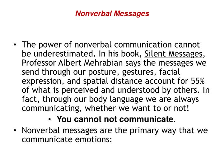 Nonverbal Messages