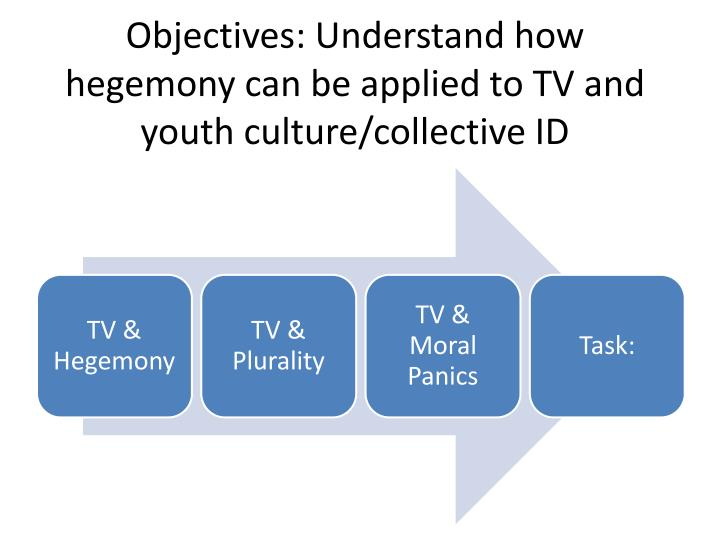 Objectives understand how hegemony can be applied to tv and youth culture collective id