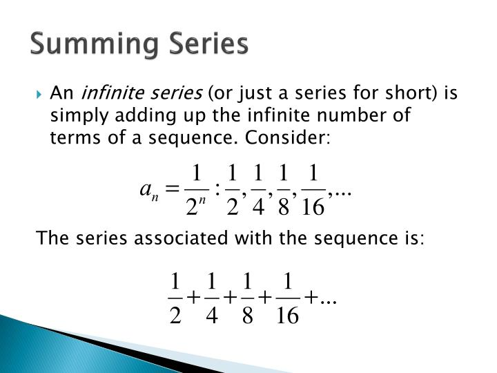 Summing Series
