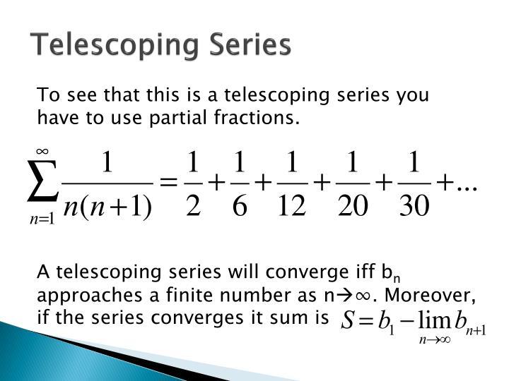 Telescoping Series