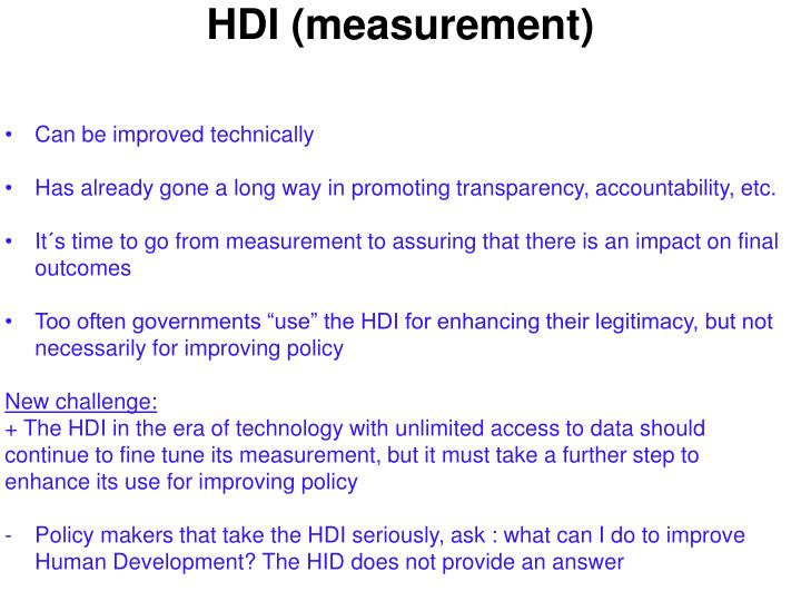 HDI (measurement)