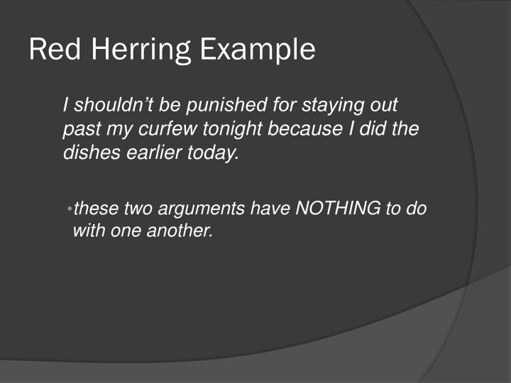 Red Herring Example