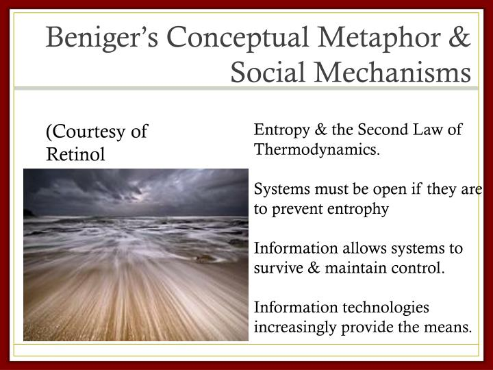 Beniger s conceptual metaphor social mechanisms