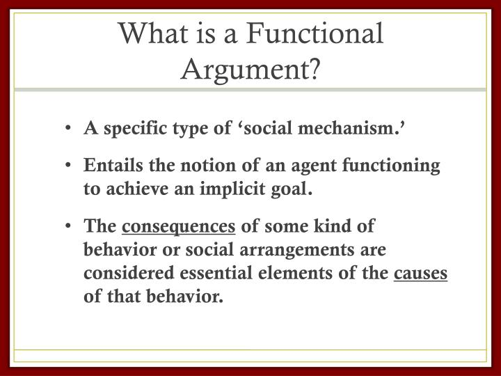 What is a Functional Argument?