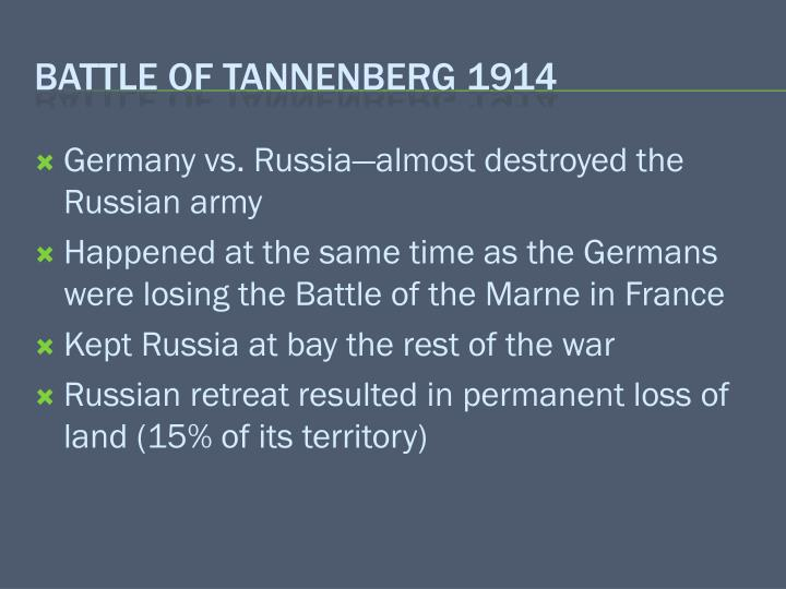 Battle of tannenberg 1914